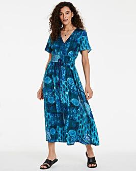 Joe Browns Printed Lace Back Maxi Dress