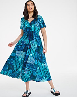 Joe Browns Printed Lace Back Maxi Dress