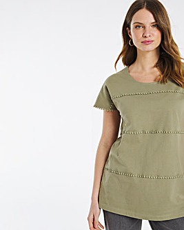 Julipa Jersey Top with Lace Detail