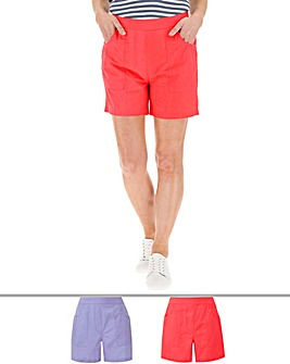 Pack of 2 Woven Cotton Shorts