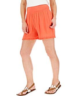 Crinkle Frill Hem Shorts