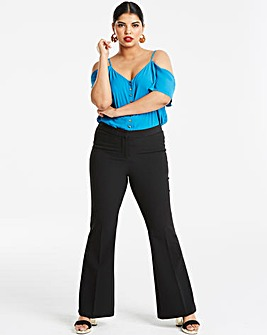 Black Pippa Everyday Flared Trousers