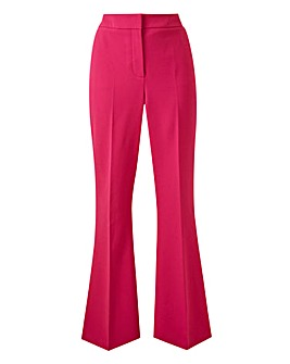 Bright Pink Pippa Everyday Flare Trousers
