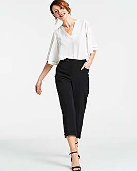 Black Camilla Everyday Crop Trousers