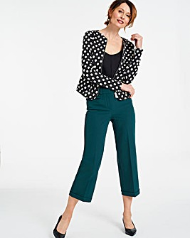 CAMILLA Crop Turn Up Trousers Regular