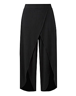 Wrap Front Stretch Jersey Culottes