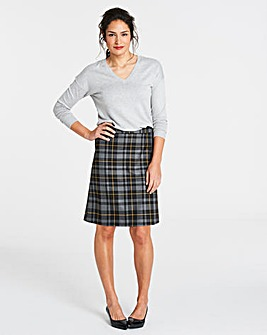 Check A Line Mini Skirt