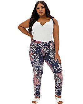 Print Crepe Tapered Trousers Regular