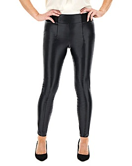 High Waist Shaper Leather Look Leggings