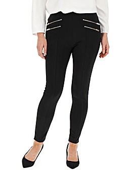 Zip Detail Shaper Stretch Leggings