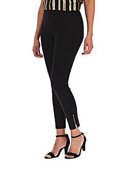 Zip Hem Detail Shaper Leggings