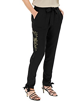 Embroidered Utility Cargo Trousers