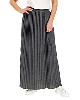 Pleat Stretch Jersey Maxi Skirt