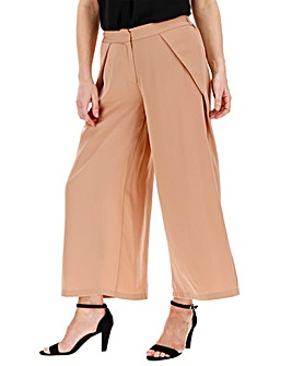 Wrap Front Woven Culottes