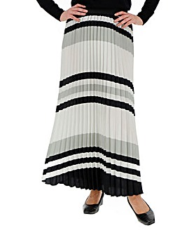 Print Sunray Pleat Maxi Skirt