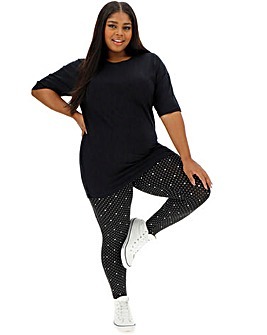 Spot Print Stretch Jersey Leggings