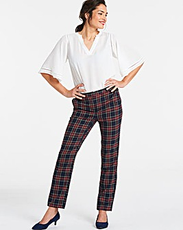 Smart Check Tapered Trousers Regular