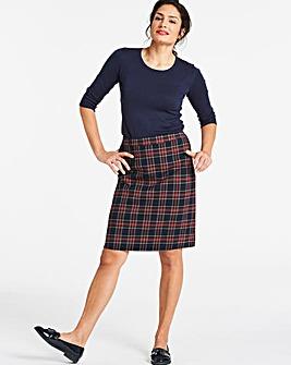 Check A Line Mini Skirt