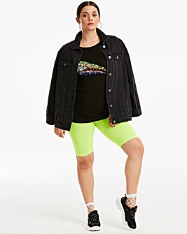 Lime Neon Cycling Short