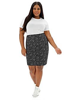 Spot Stretch Jersey Mini Tube Skirt