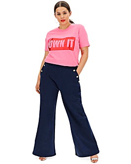 Wide Leg Soft Flare Trousers