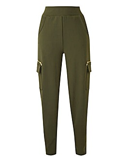 Relaxed Soft Jersey Cargo Trousers