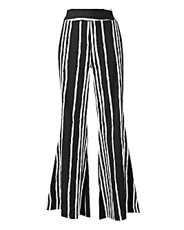 Stripe Crepe Statement Wide Trousers