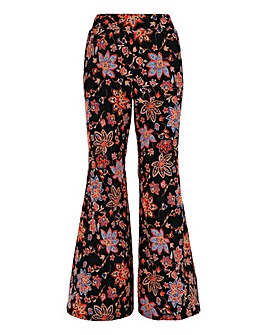 Print Crepe Statement Wide Trousers