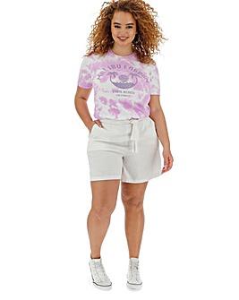 Linen Rich Tie Waist Shorts