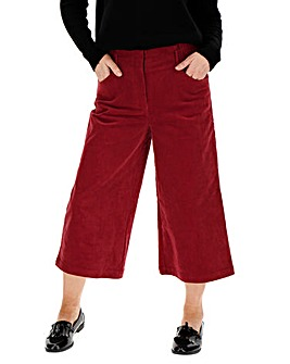 Cord Crop Wide Leg Trousers