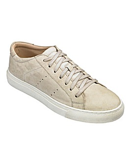 Heavenly Soles Leather Lace Up Leisure Shoes Wide E Fit