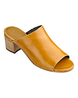 Heavenly Soles Open Toe Mule Shoes Wide E Fit