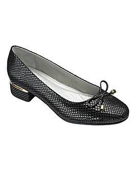 Heavenly Soles Bow Court Shoes Ultra Wide EEEEE Fit