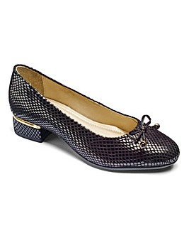 Heavenly Soles Bow Court Shoes Extra Wide EEE Fit