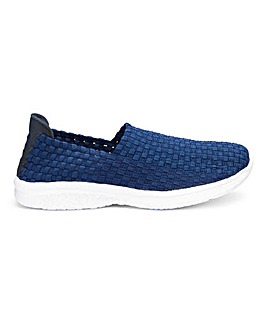 Stretch Slip On Shoes Wide E Fit