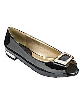 Footflex by Lotus Peep Toe Shoes EEE Fit