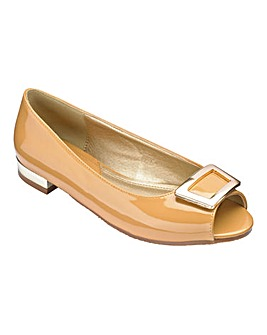 Footflex by Lotus Peep Toe Shoes Extra Wide EEE Fit