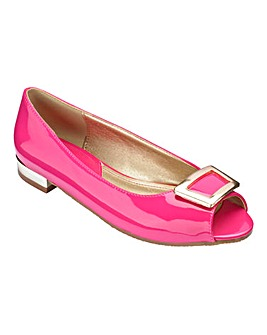 Footflex by Lotus Peep Toe Shoes Wide E Fit