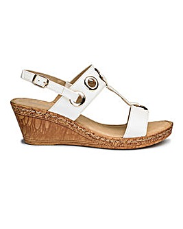 Cushion Walk Wedge Sandals E Fit