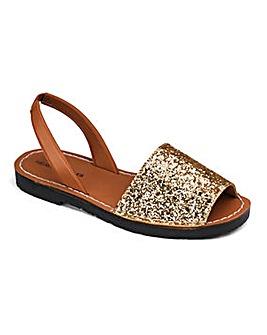 Heavenly Soles Glitter Sandals Extra Wide EEE Fit