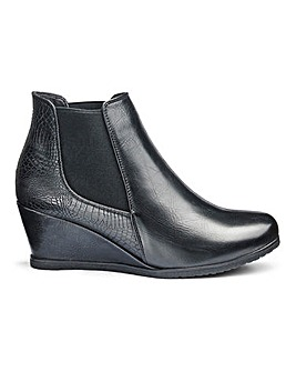 Heavenly Soles Wedge Ankle Boots EEE Fit
