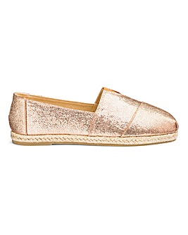 Classic Slip On Espadrilles Extra Wide EEE Fit