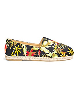 Classic Slip On Espadrilles Wide E Fit