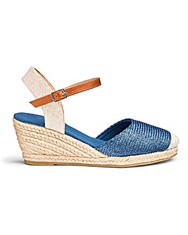 Espadrille Wedge Sandals Wide E Fit
