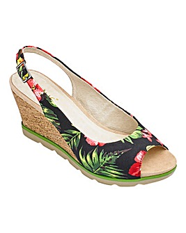 Lotus Slingback Wedge Sandals Standard D Fit