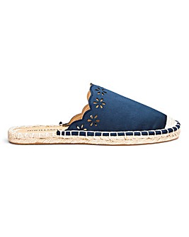 Scallop Edge Mule Espadrilles E Fit
