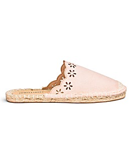 Scallop Edge Mule Espadrilles EEE Fit