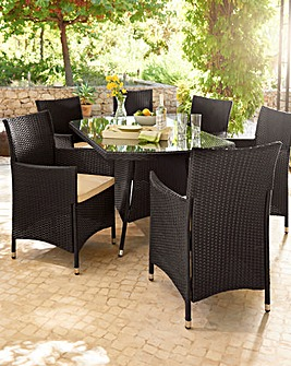 San Diego 6 Seat Rectangular Dining Set