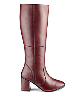 Leather Boots EEE Fit Ex Curvy Plus Calf
