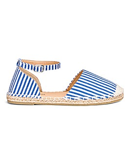 Buckle Ankle Strap Espadrilles Extra Wide EEE Fit